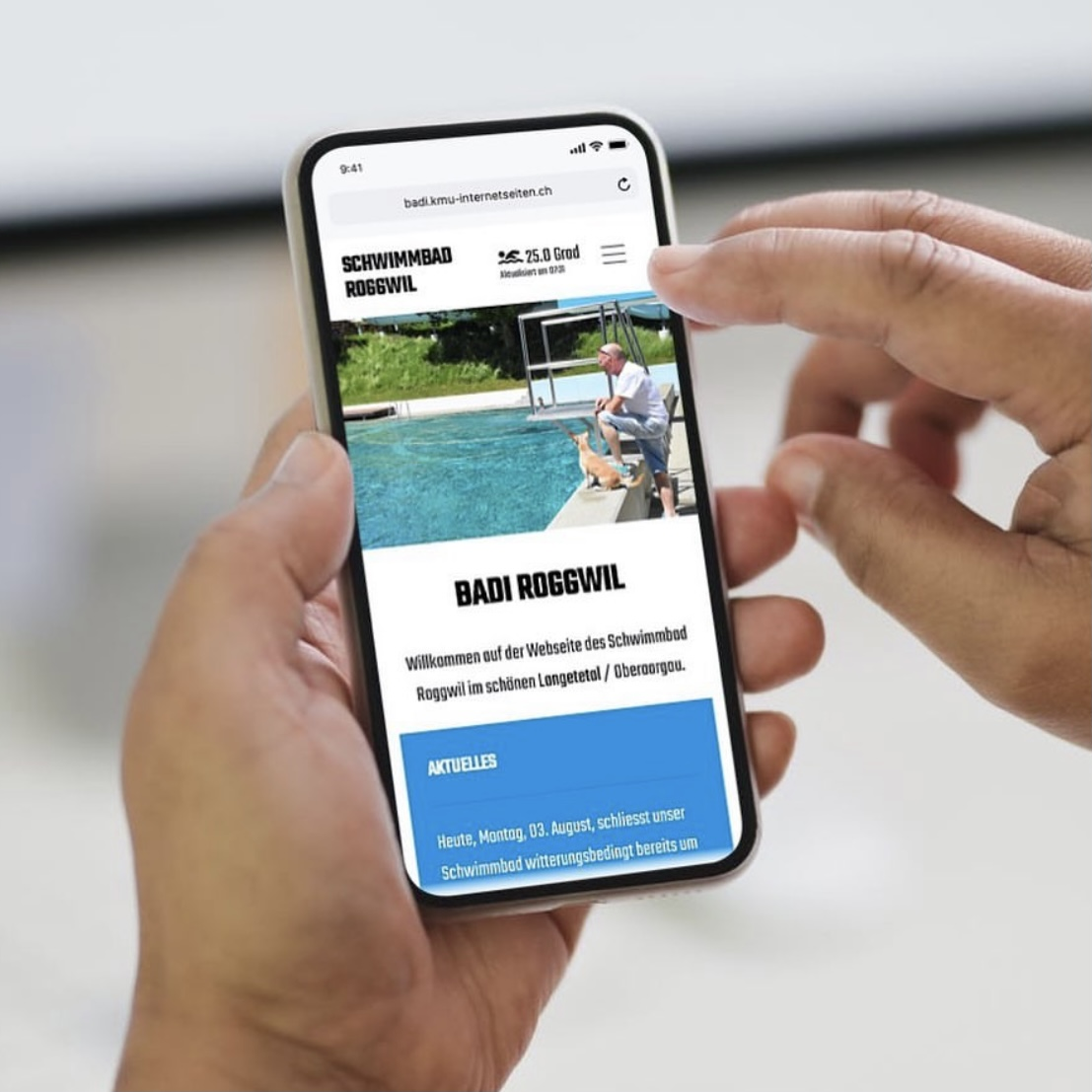 Webseite für Badi Roggwil