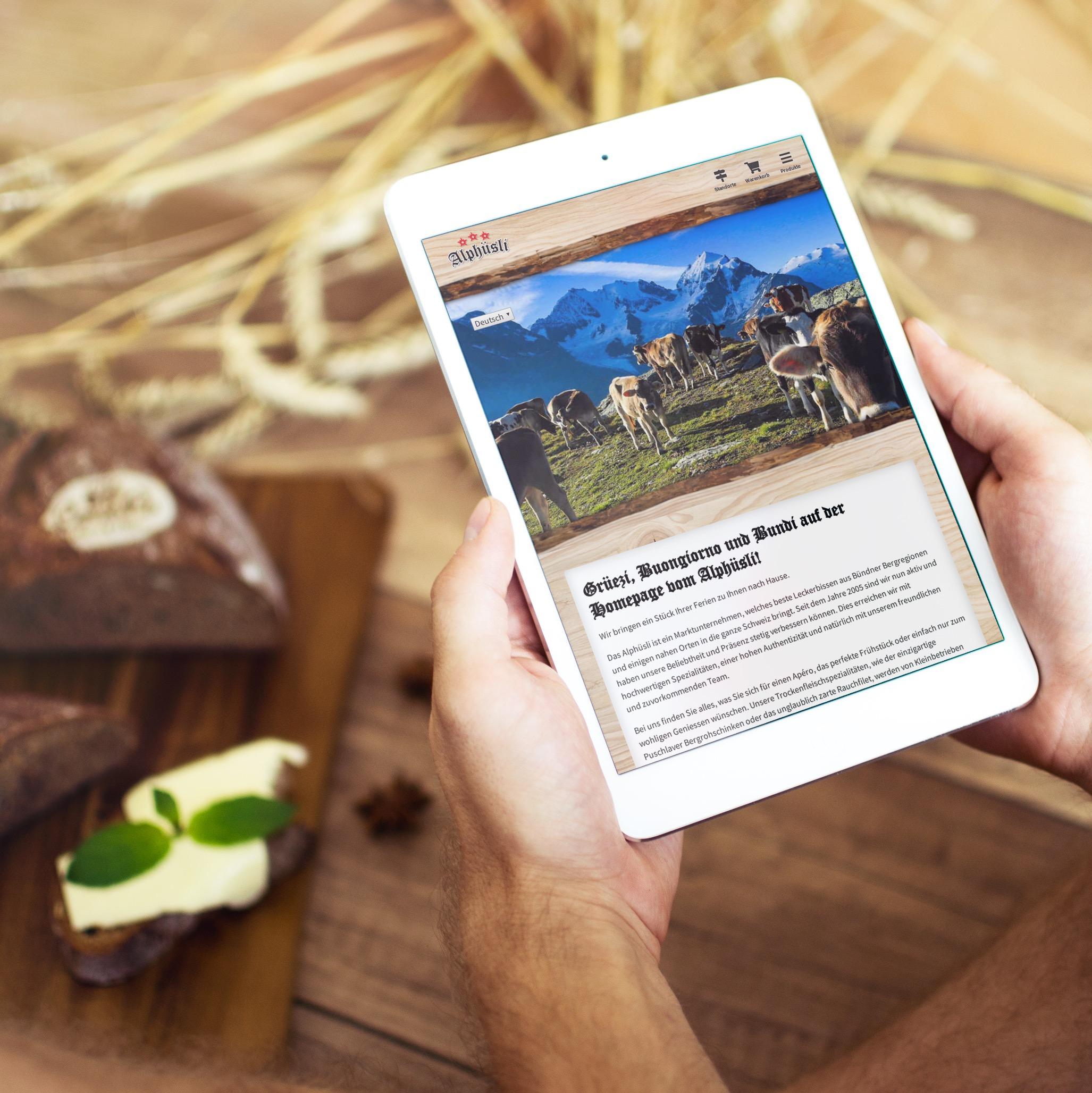 Online Shop für Alphüsli - Schweizer Spezialitäten Händler