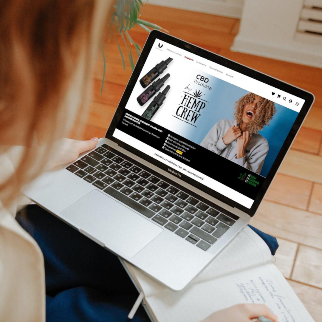 Onlineshop für CBD Shop Cannavalley