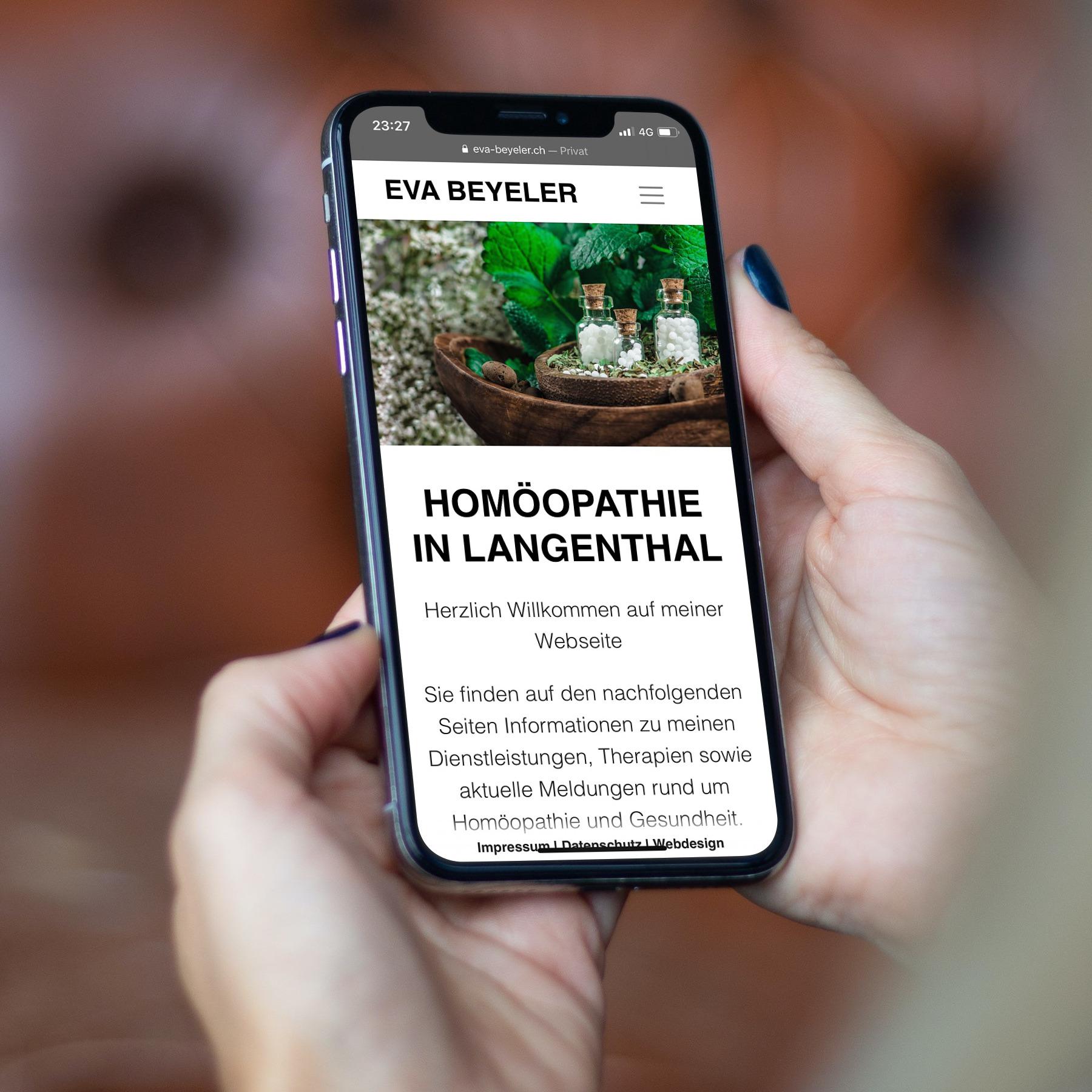 Webseite für Homöopathin aus Langenthal