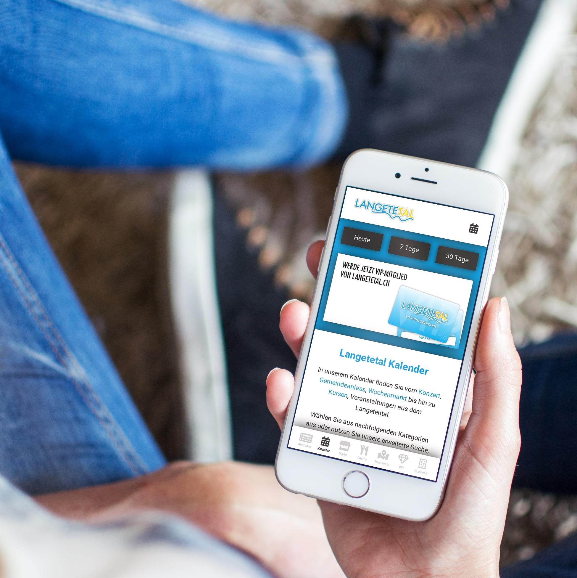 Entwicklung des regionalen Onlineportal Langetetal.ch