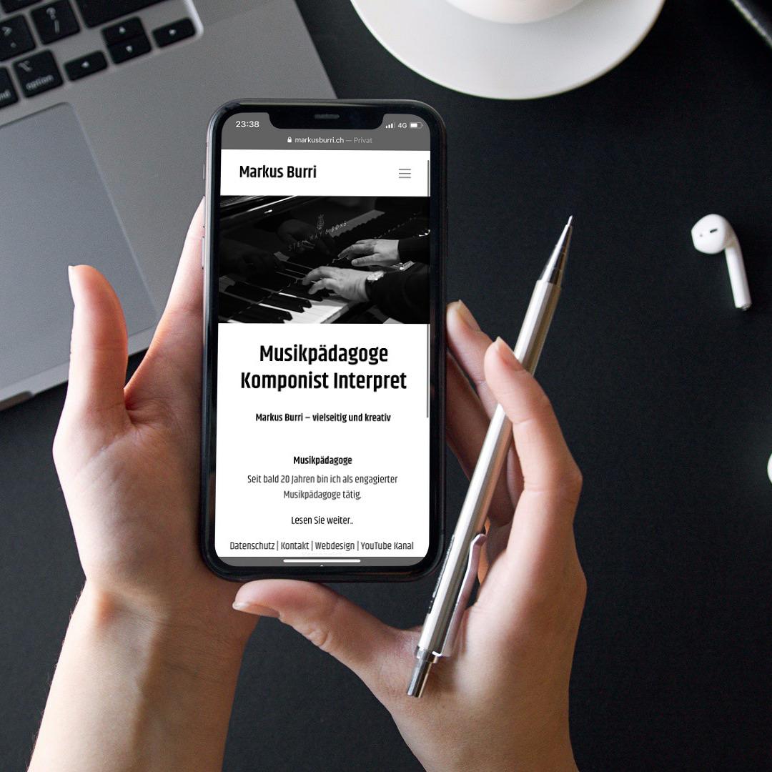 Webseite für Musikpädagoge und Komponist
