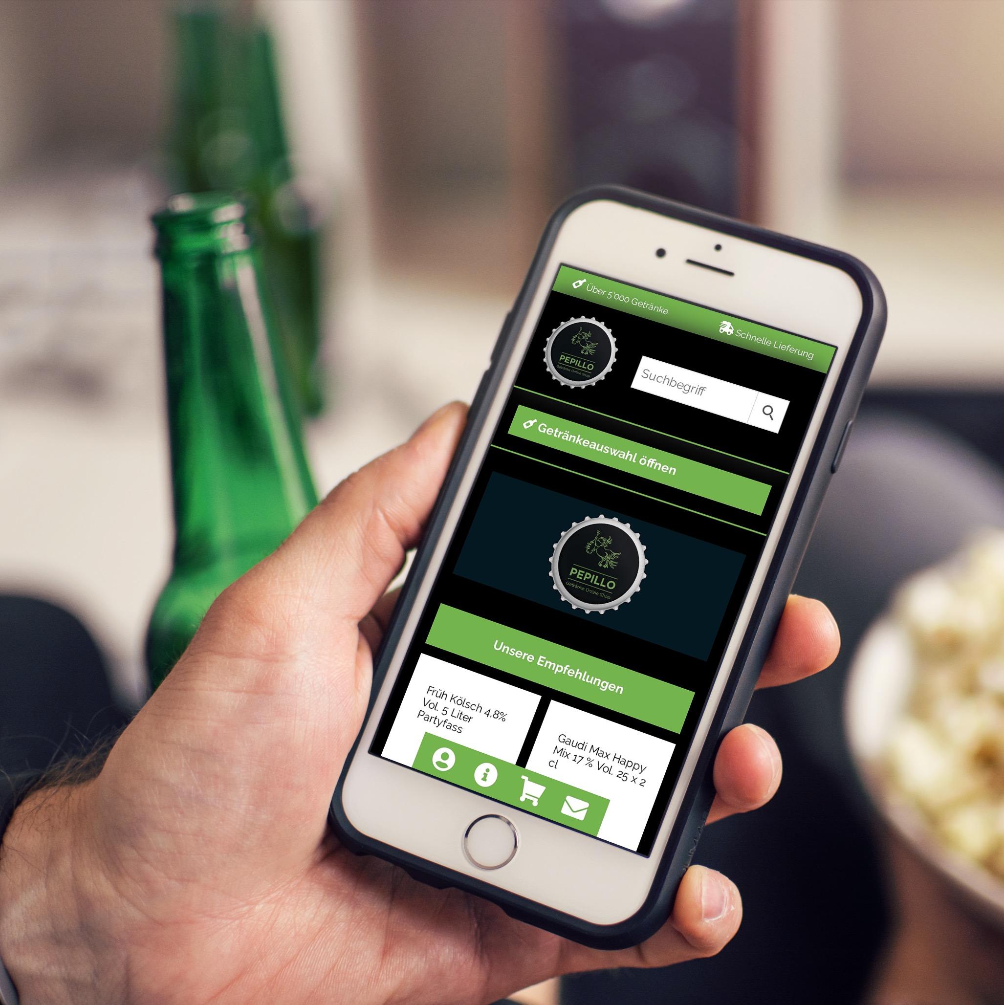 Webshop für Getränkehändler