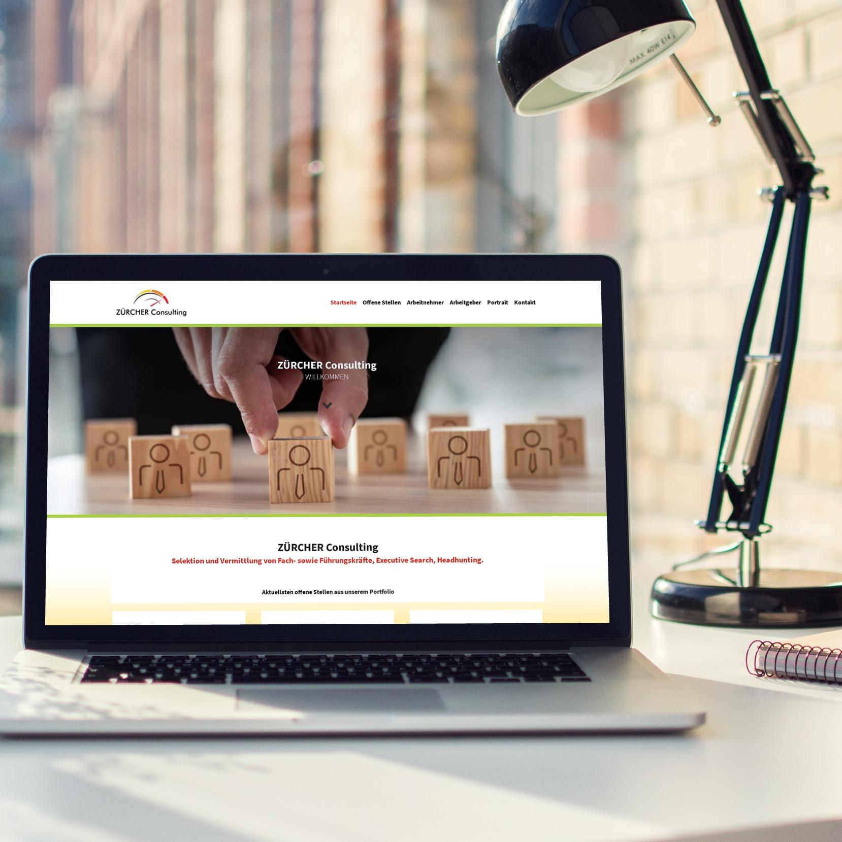 Webseite für Zürcher Consulting aus Luzern