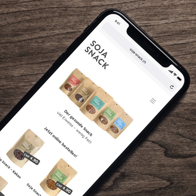 Online Shop für Soja Snacks